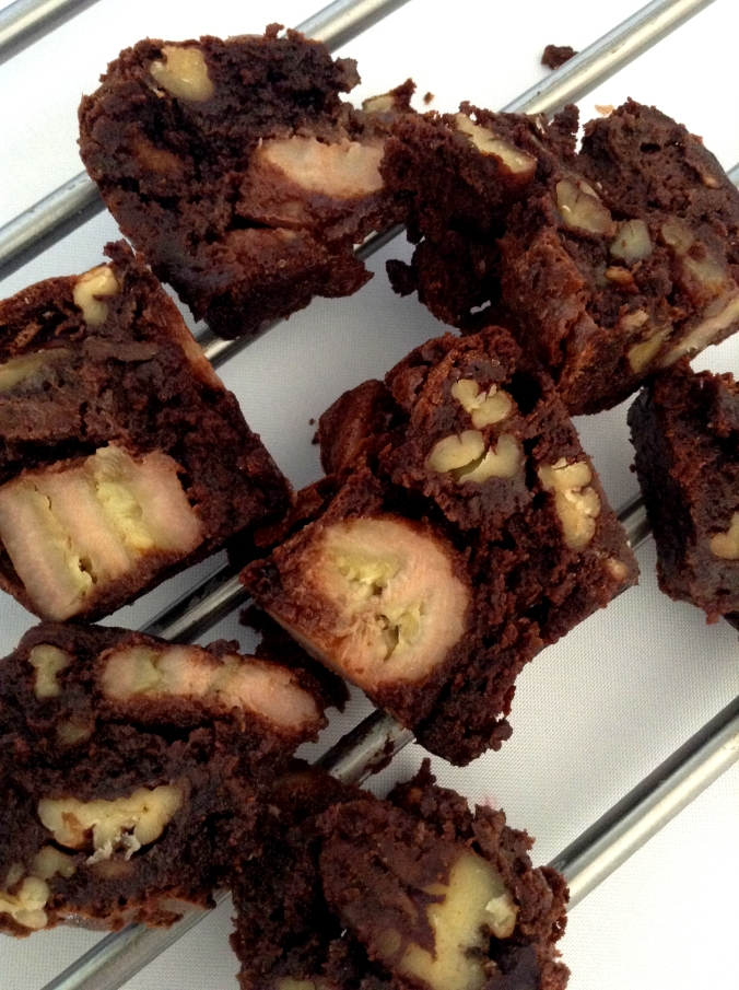 Chunky Monkey Brownies. These brownies are named after the Chunky Monkey ice cream flavor from Ben & Jerry's!