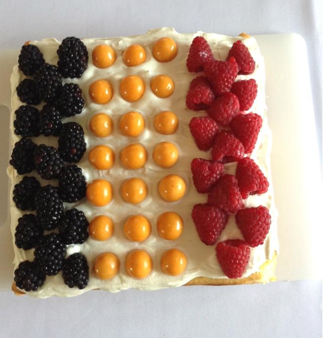 Belgian Flag Cake
