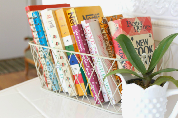Creative ways to display cookbooks