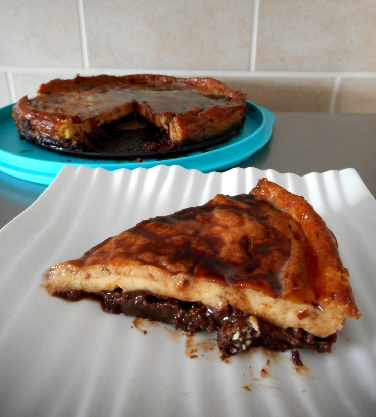 Brownie Caramel Cheesecake - Sarah's Little Kitchen