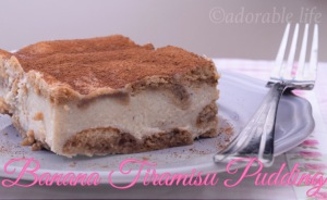 banana tiramisu pudding