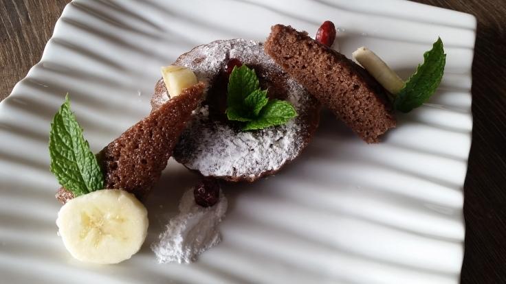 Chocolade Banaan Pudding Cake