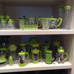 Green coffee and tea stuff by Bodum