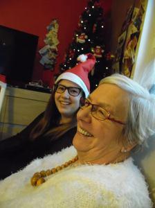 Me and grandma at Christmas