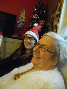 Me and grandma at Christmas