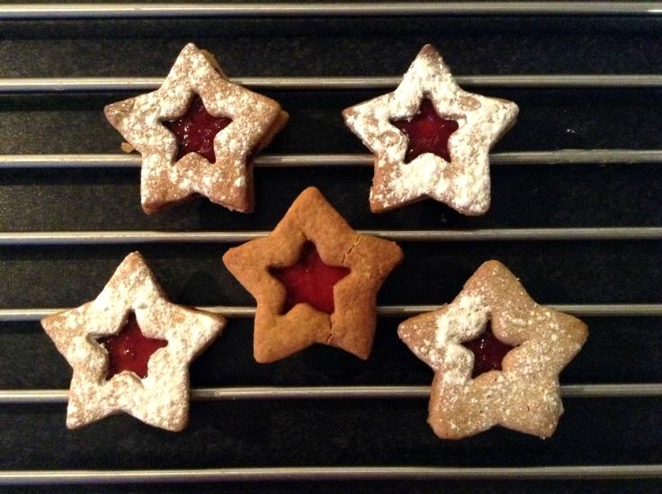 Christmas Jam Cookies