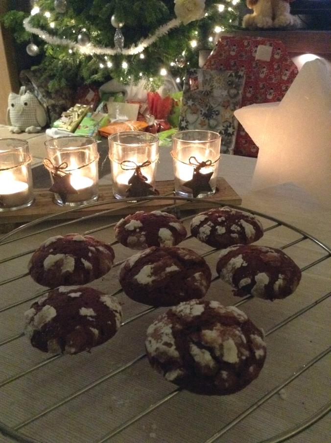 Red Velvet Crinkle Cookies