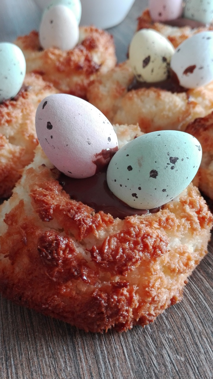 Beautiful Easter Coconut Macaroon Nests