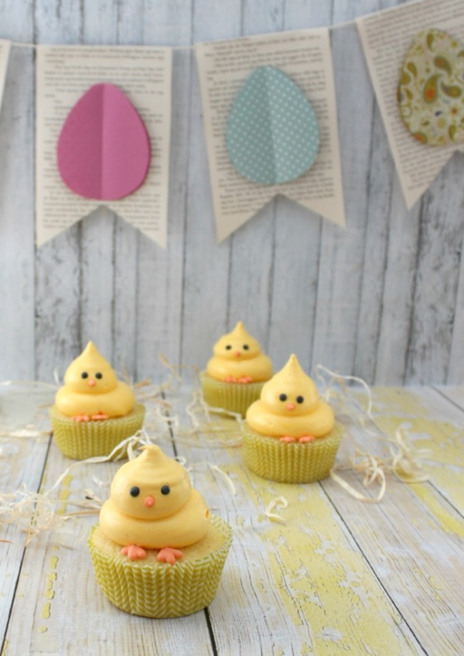 Perfect Easter Chick Cupcakes