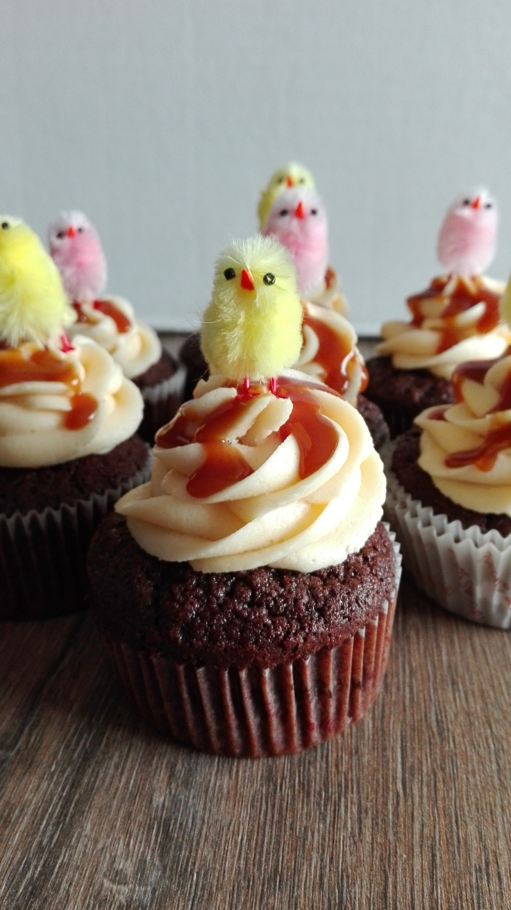 Salted Caramel Easter Cupcakes