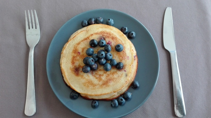 Blueberry American Pancakes
