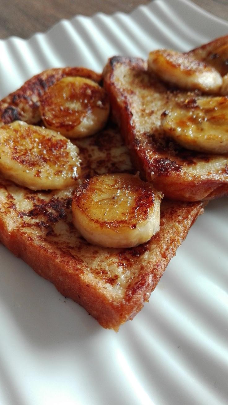Baked banana and cinnamon French Toast