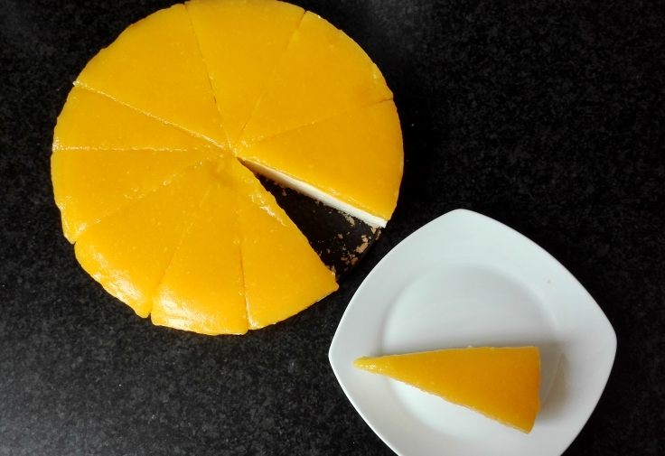 Summer-y Mango Cheesecake