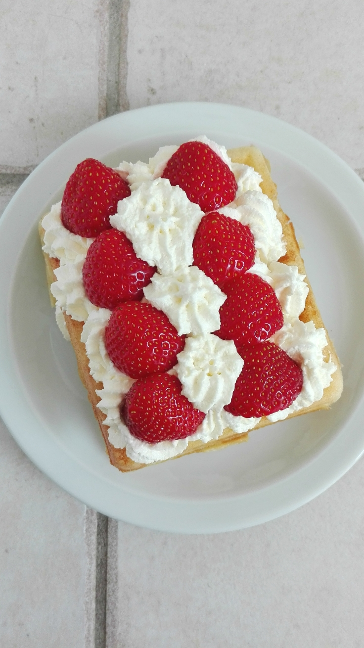 Brussels Waffle with Strawberries