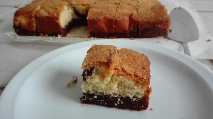 Delicious Brownie Vanilla Cake Recipe