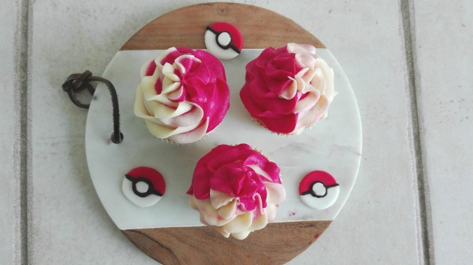 Pokemon inspired raspberry lemon cupcake recipe