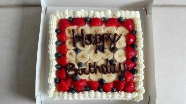 Admirable The Perfect Summer Birthday Cake Sarahs Little Kitchen Funny Birthday Cards Online Elaedamsfinfo