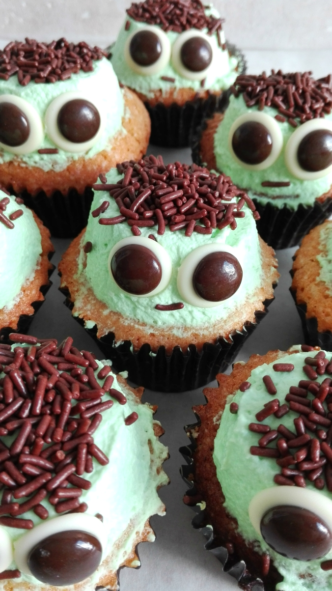 Apple Cinnamon Frankenstein Cupcakes for Halloween.jpg