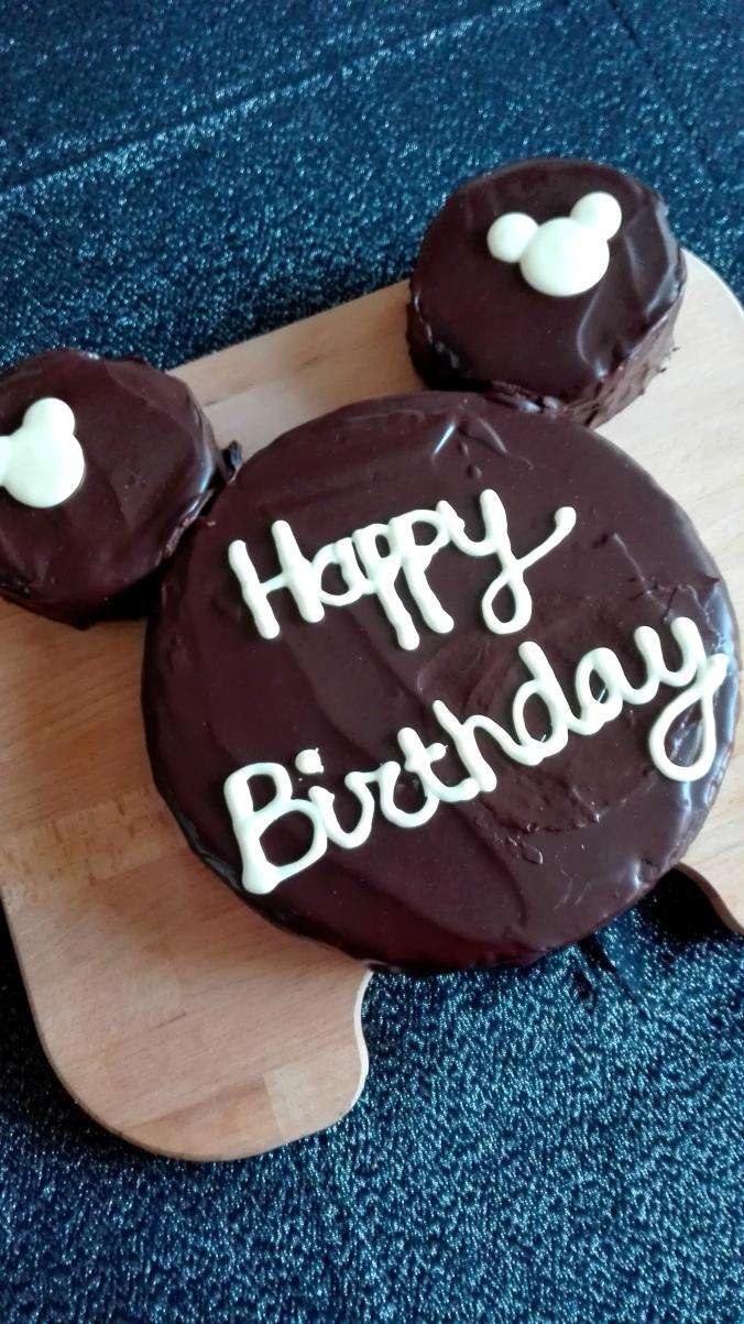 Chocolate Mickey Birthday Cake