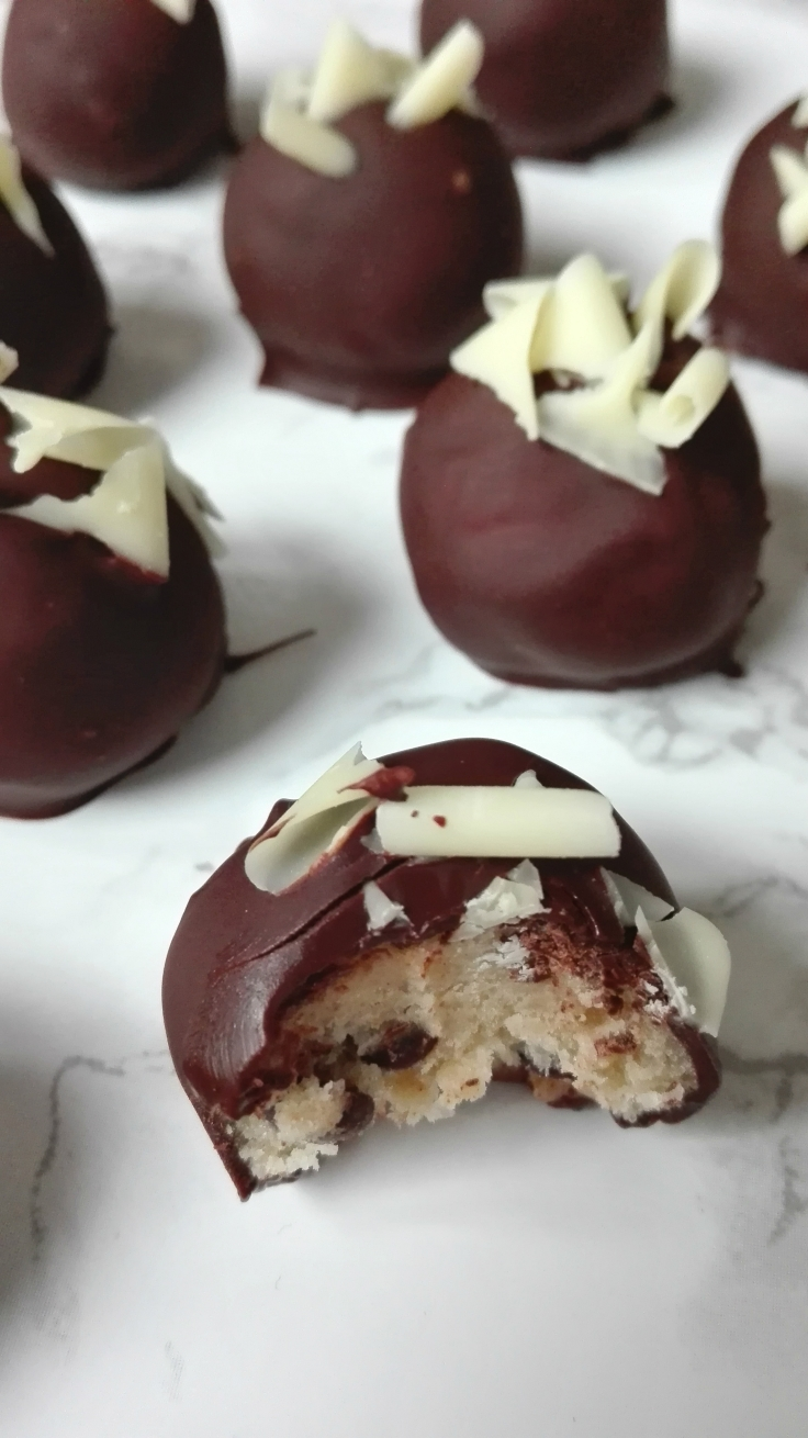 Inside Cookie Dough Truffle