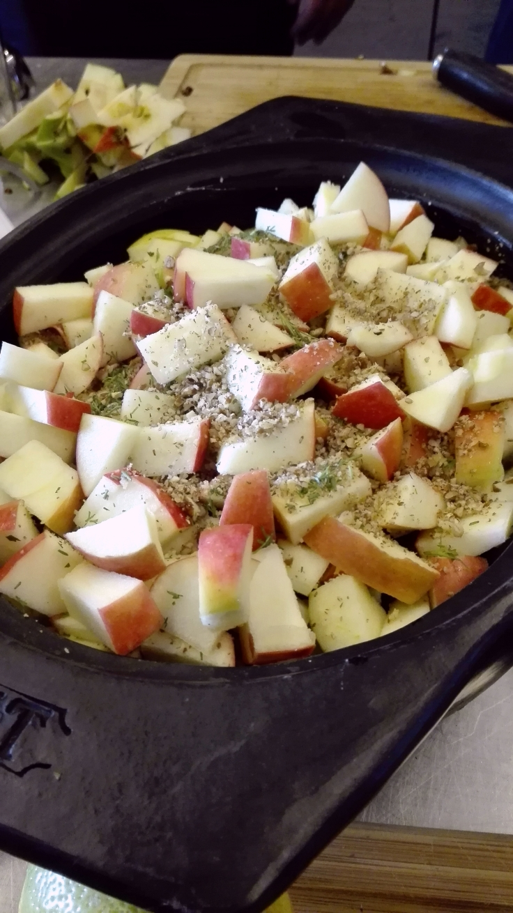 Preparing Apple Crumble for BBQ.jpg