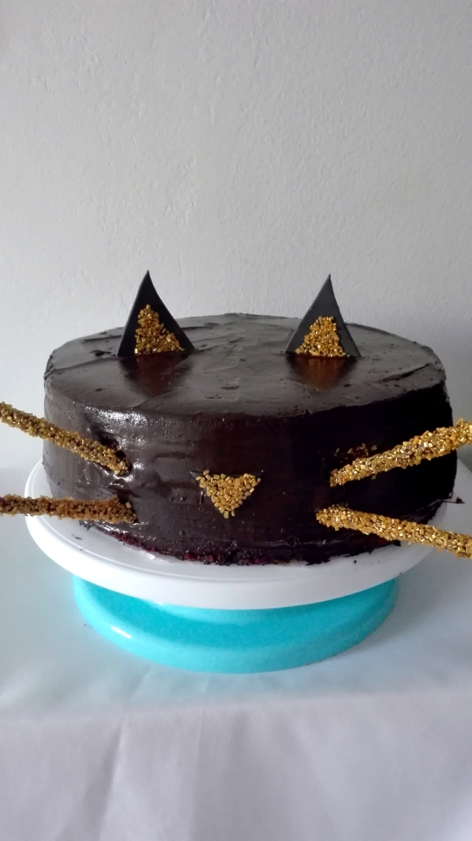 Chocolate Black Cat Cake
