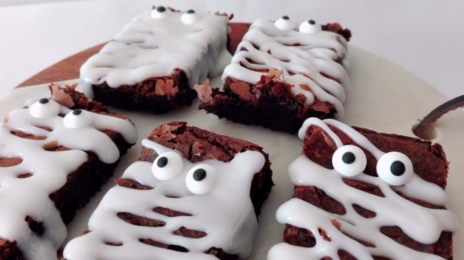 Mummy Brownies for Halloween Recipe