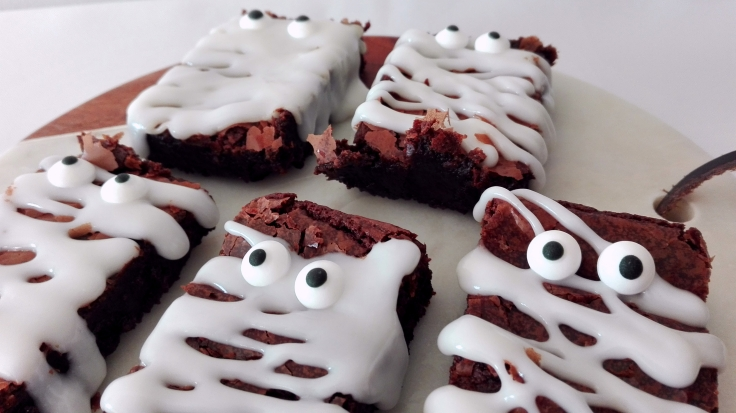 Mummy Brownies for Halloween Recipe