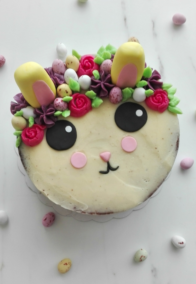 Vanilla Easter Bunny Cake
